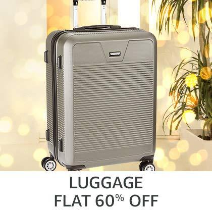 Luggage Flat 60% Off