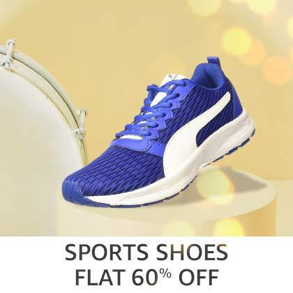 Sports Shoes Flat 60% Off