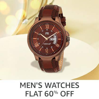 Men's Watches Flat 60% Off