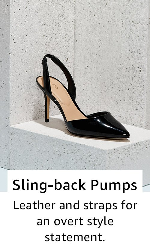 Sling-back pumps