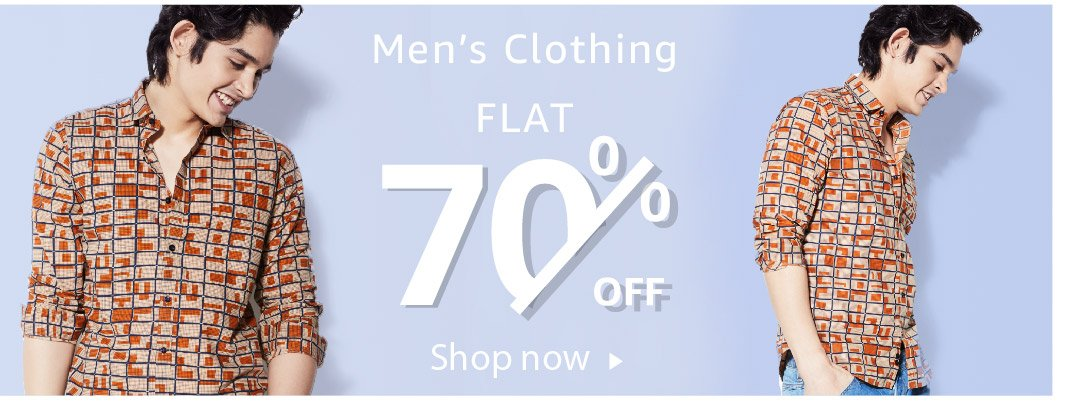 Men's Clothing - Flat 70% off