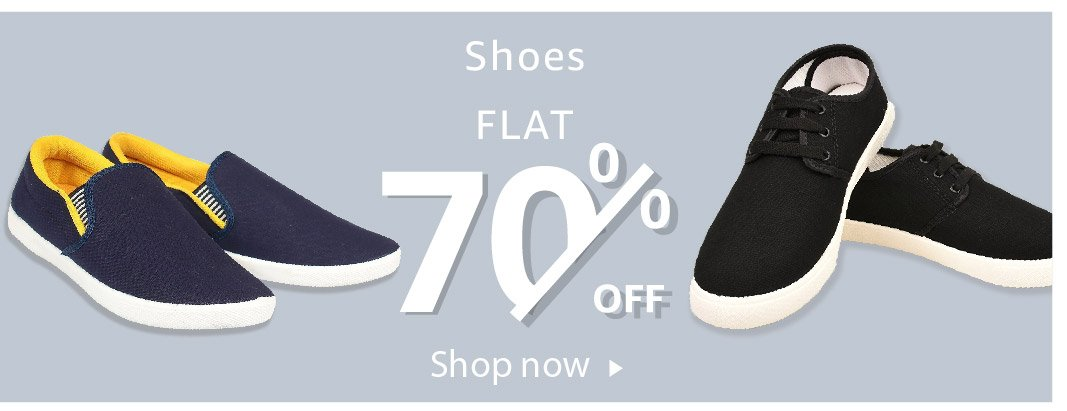 Shoes - Flat 70% off