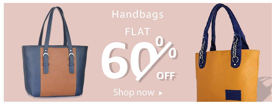 Handbags - Flat 60% off