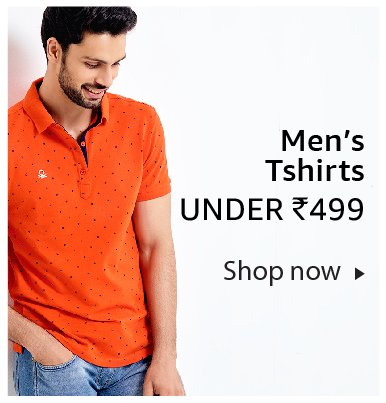 Men's t-shirts under Rs. 499