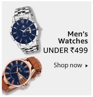 Men's watches under Rs. 499