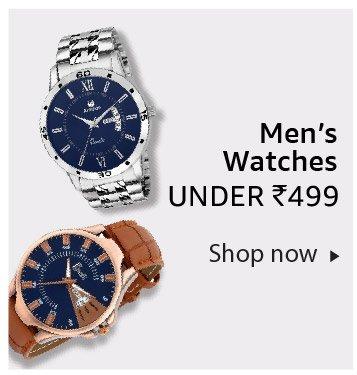Men's watches under Rs. 499
