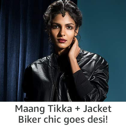 Maang Tikka & Leather Jacket   Biker chic goes desi!