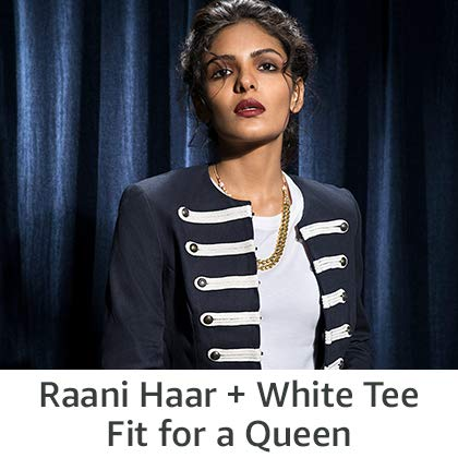 Raani Haar & White Tee Fit for a queen