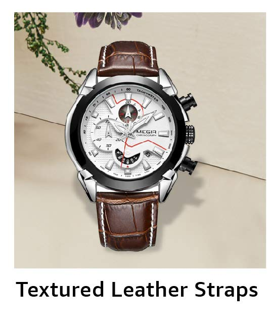 Textured Leather Straps