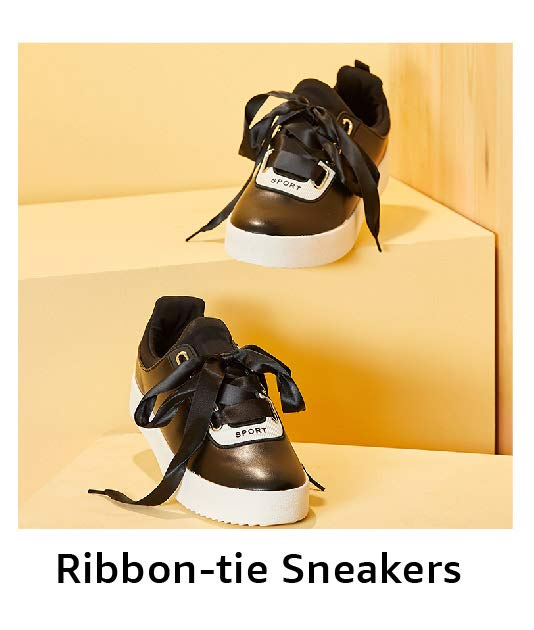 Ribbon-tie Sneakers
