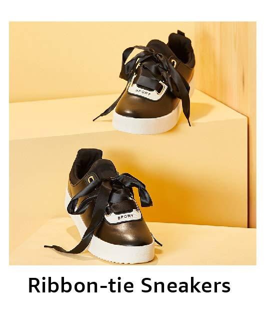 Ribbon-tie Sneakers