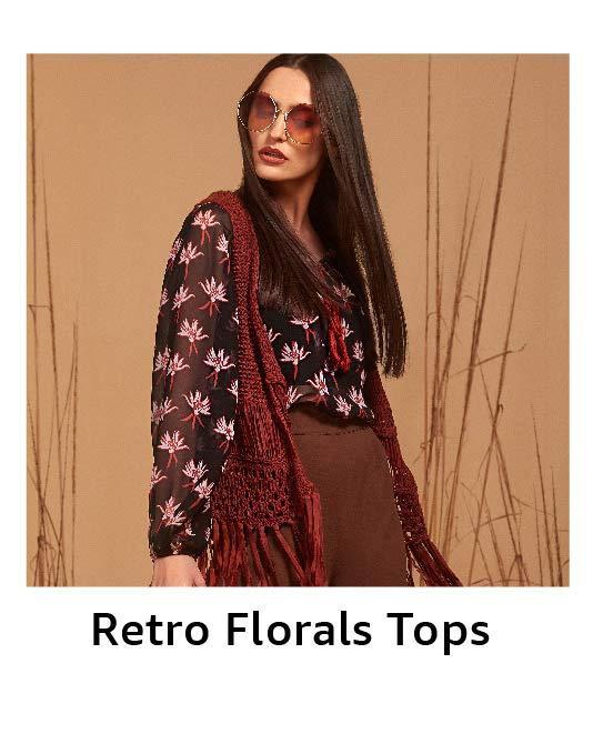 Retro Floral Tops