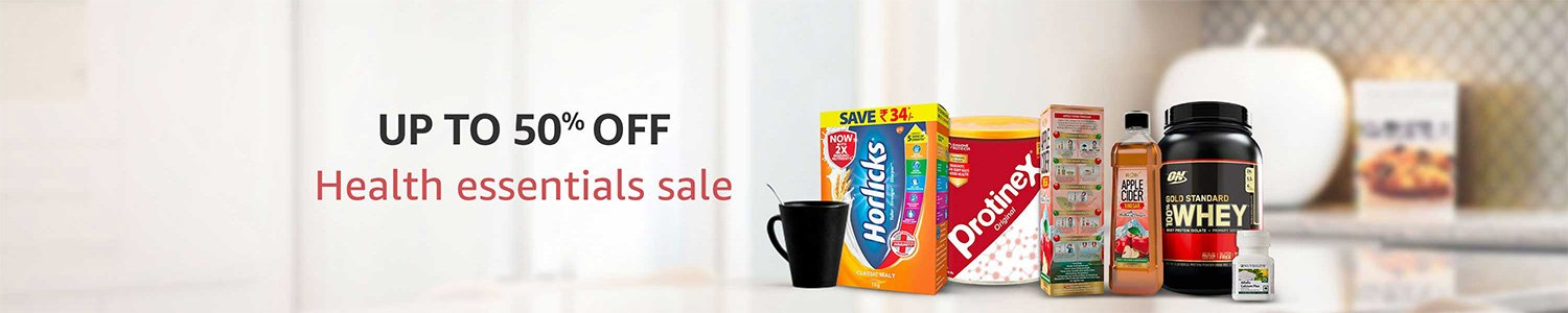 Up to 50% off health essentials sale