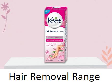 Hair removal range