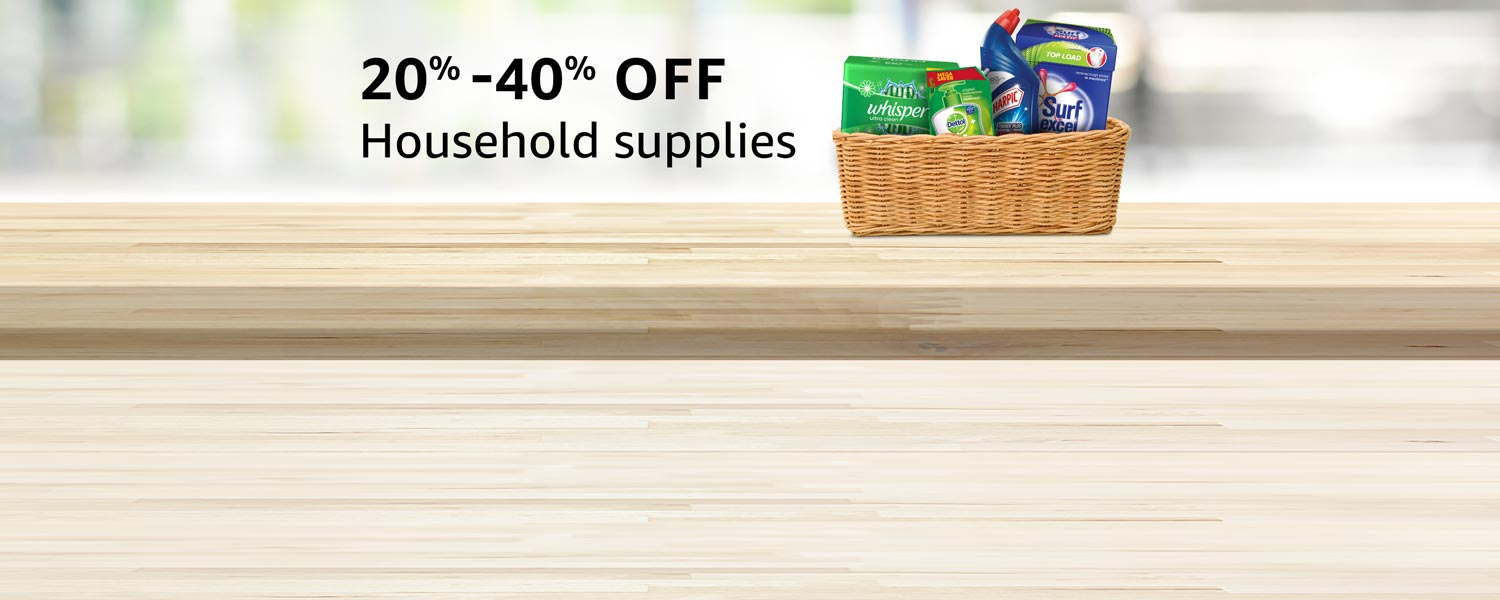 Up to 40% off : Household essentials
