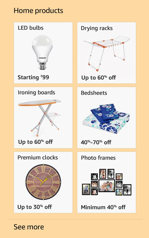 Offers on Home products