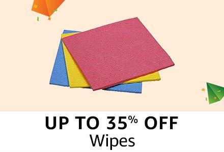 Upto 35% off : Wipes