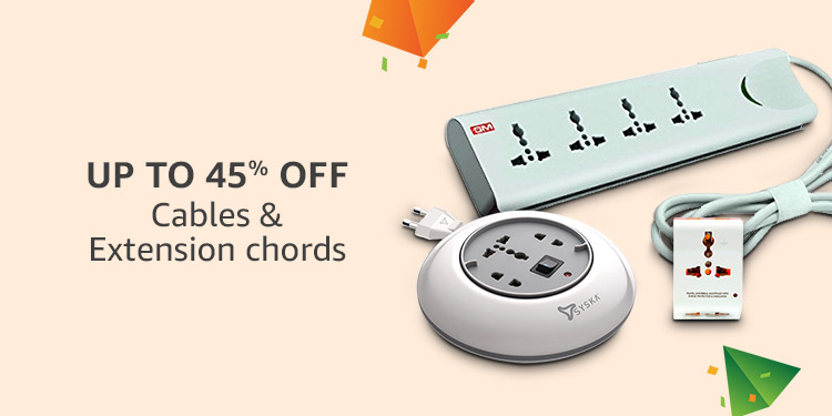 Upto 45% off : Cables & Extension chords