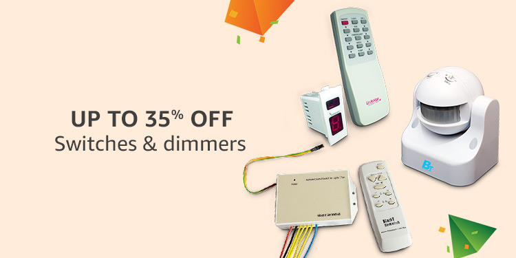 Upto 35% off : Switches & dimmers