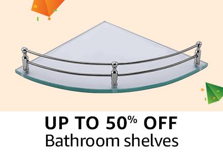 Upto 50% off : Bathroom shelves