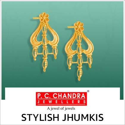 Stylish Jhumkis by PC Chandra