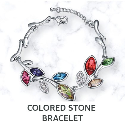 Colored Stone Bracelet
