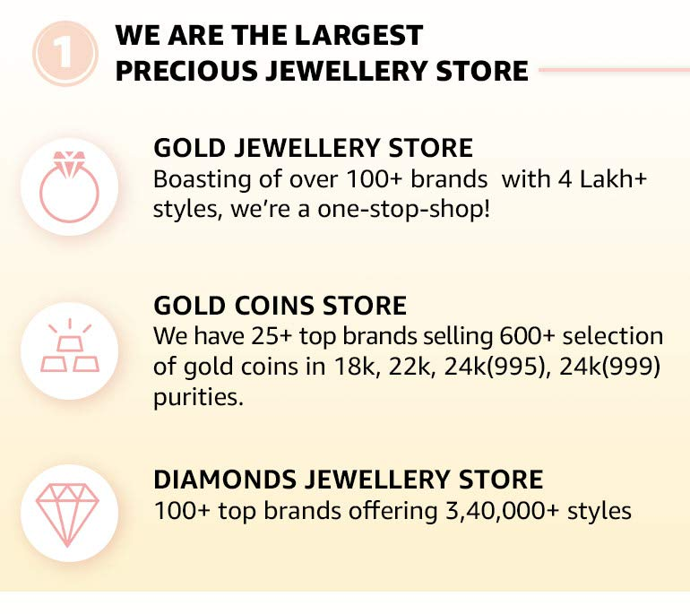 We are the largest precious jewellery store