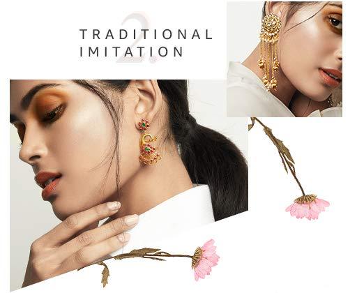 d6069c408 Earrings: Buy Earrings online at best prices in India - Amazon.in