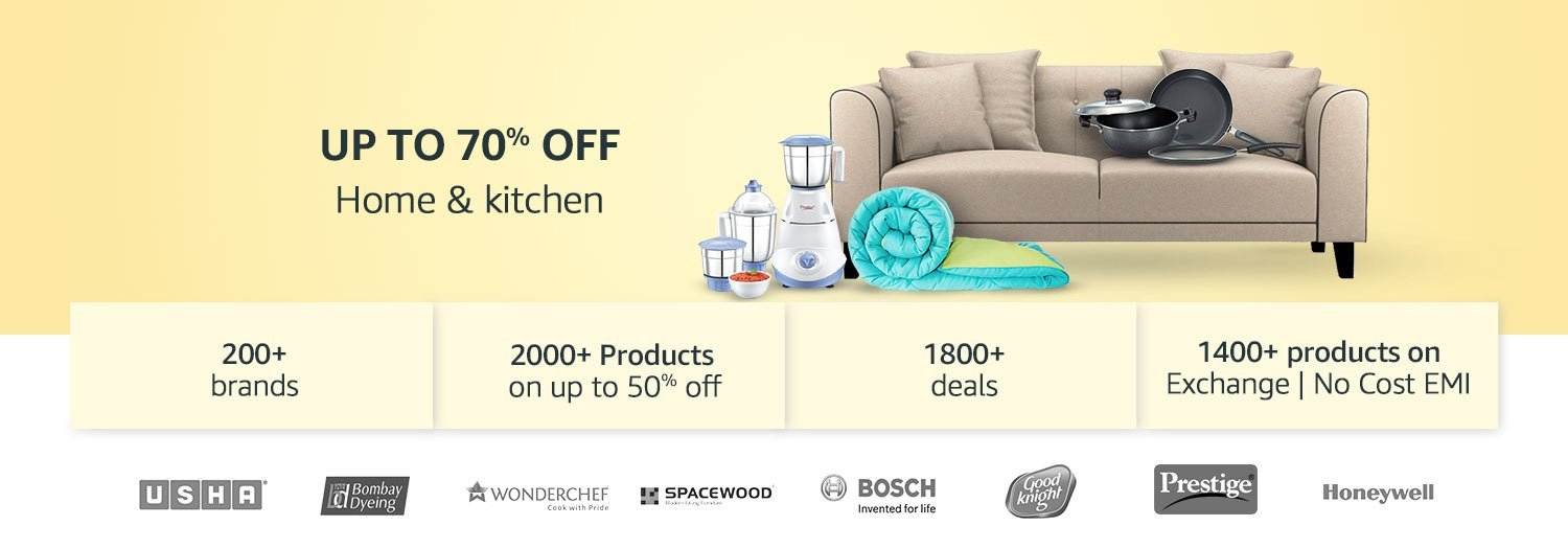 Home and kitchen products up to 70% off