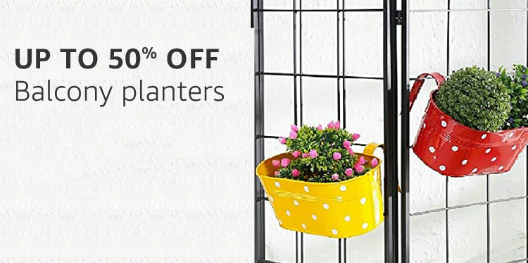 Balcony planters : Up to 50% off