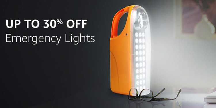Emergency lights : Up to 30% off
