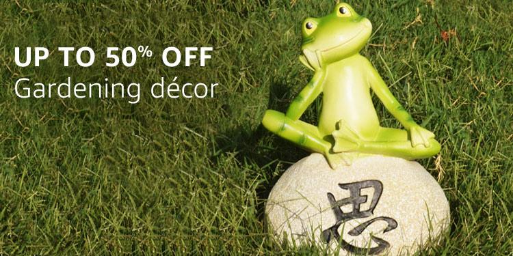 Garden decor : Up to 50% off