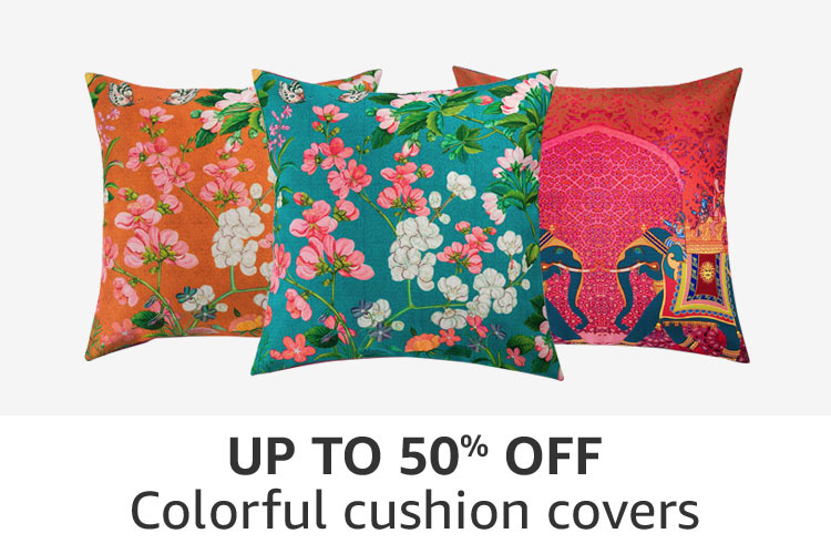 Cushion covers : Up to 50% off