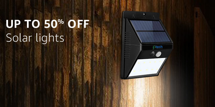Solar lights : Up to 50% off