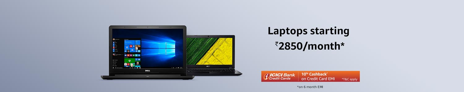 Laptops starting Rs 2850/month