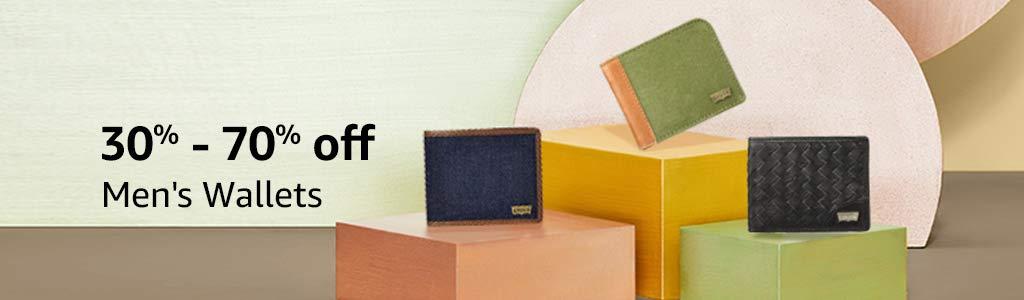 Men's wallets 30% - 70% off