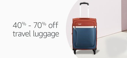 40% - 70% off travel luggage