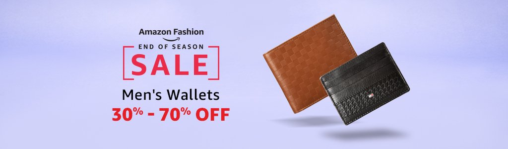 Men's wallets 30% - 70% off