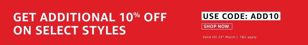 Extra 10% off - Amazon Fashion