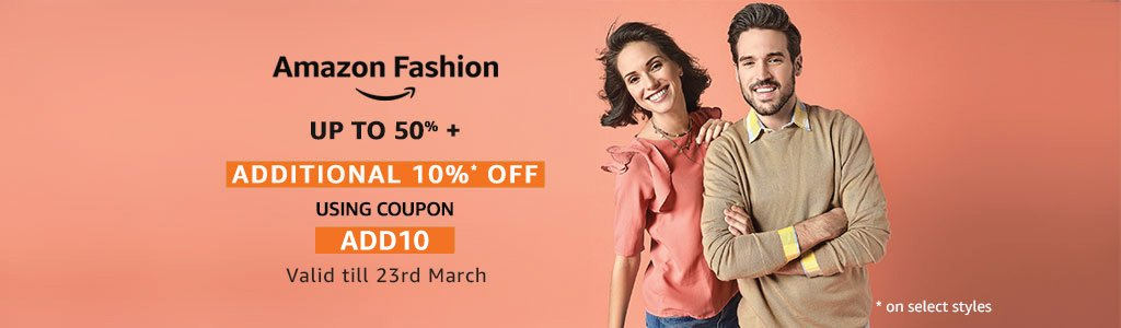Extra 10% off - Amazon Fashion
