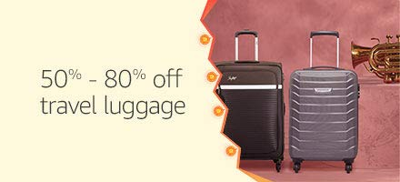 50% - 80% off travel luggage