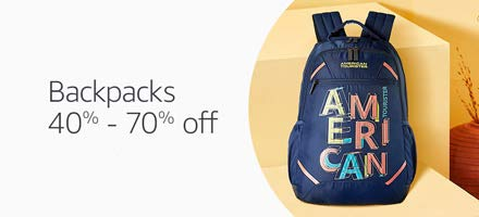 40% - 70% off backpacks
