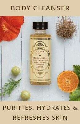 kama ayurveda mandarin vetiver for hair and body range