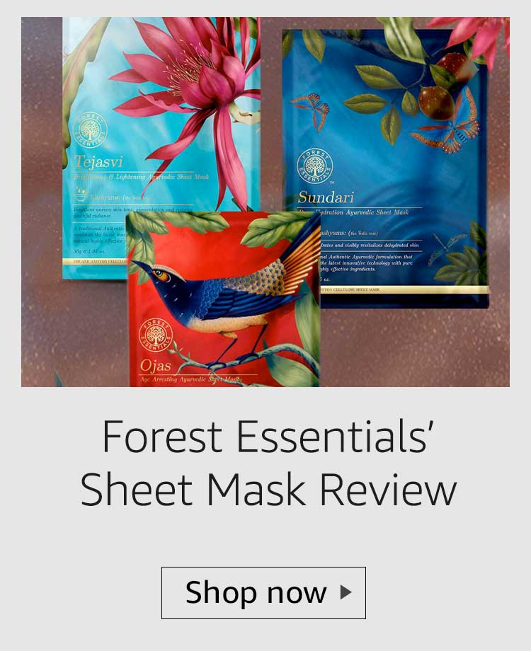 Forest Essentials Ayurvedic Sheet Mask review