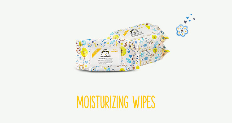 Moisturizing wipes