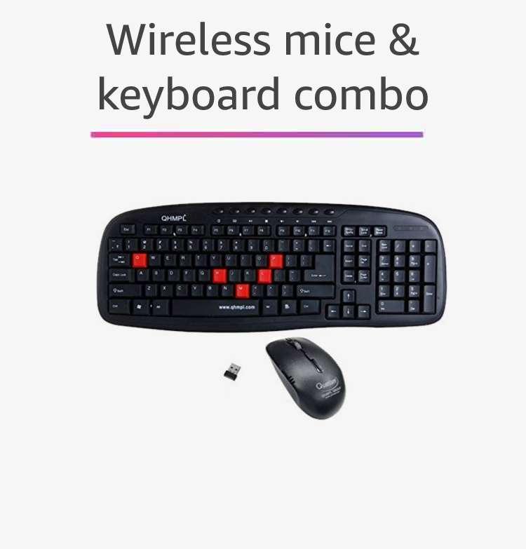 wireless keyboard & mice