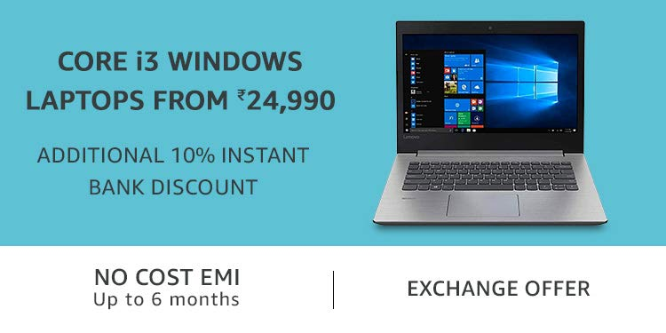 Core i3 Windows Laptops from Rs 24,990