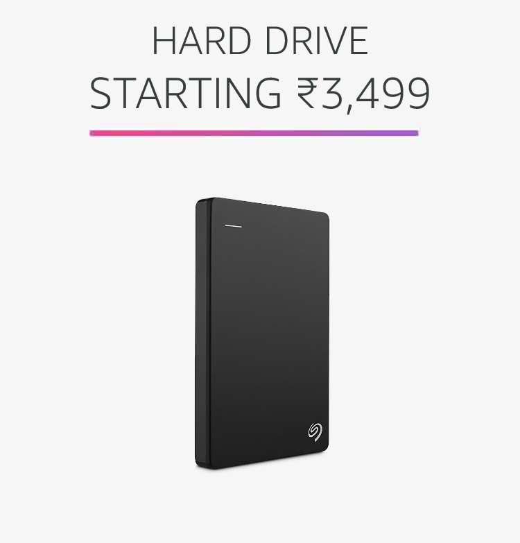 Hard drive starting Rs.3,499