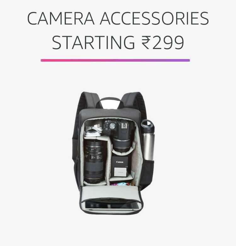 Camera accessories starting Rs.299