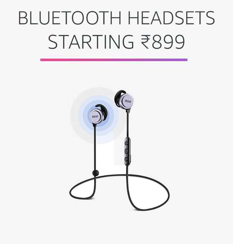 Bluetooth Headsets starting Rs.899